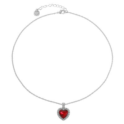 Monet Jewelry Womens Red Heart Pendant Necklace
