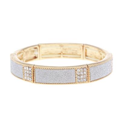Monet Jewelry Womens Clear Stretch Bracelet