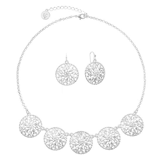 Liz Claiborne Silver Tone 2 Pc Jewelry Set