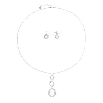 Liz Claiborne Silver Tone 2-pc. Jewelry Set