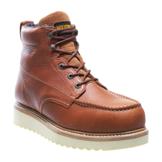 Wolverine Mens Work Wedge St Steel Toe Work Boots Lace-up