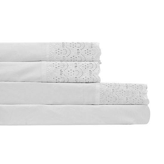 Auraa Comfort 600tc Lace Sateen Sheet Set