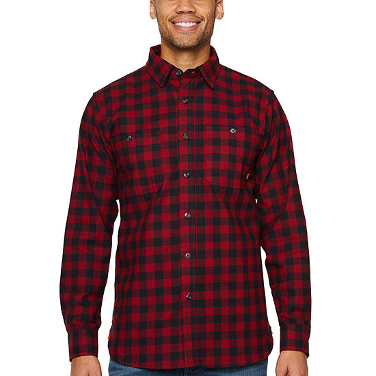 Walls Yl860 Mens Mid Weight Stretch Brushed Flannel Button Front Shirt