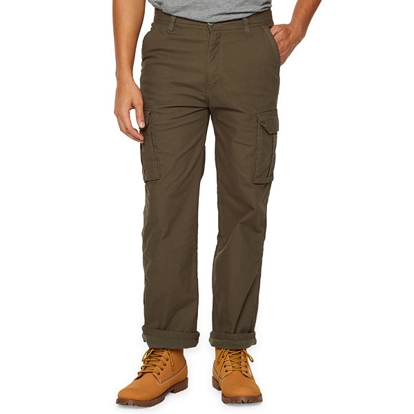 d549955e38e Smith's Workwear Mens Mid Rise Relaxed Fit Fleece Lined Cargo Pant