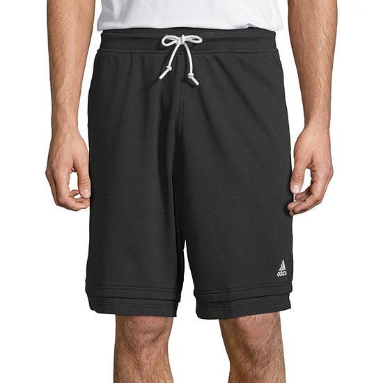 adidas Mens Drawstring Waist Workout Shorts