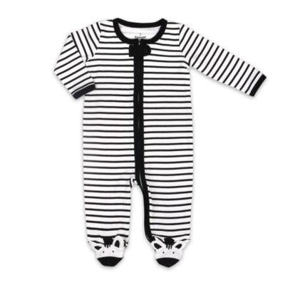 The Peanut Shell Zebra Footie Sleep and Play - Baby