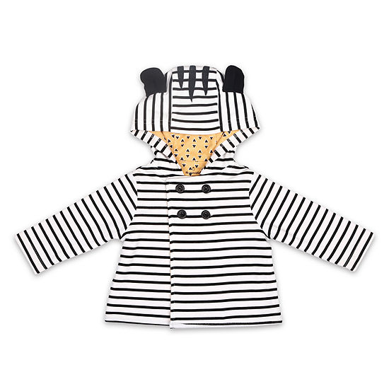 The Peanutshell Zebra Baby Girls Midweight Jacket