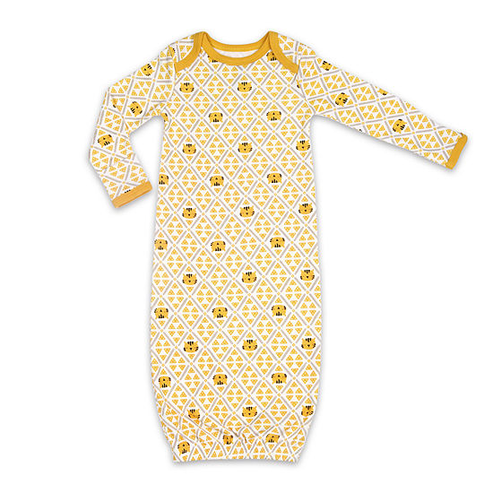 The Peanut Shell Tiger Sleep Gown Baby Unisex Knit Long Sleeve Round Neck Nightgown