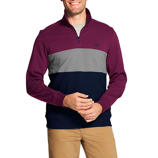 IZOD Mens Long Sleeve Quarter-Zip Pullover