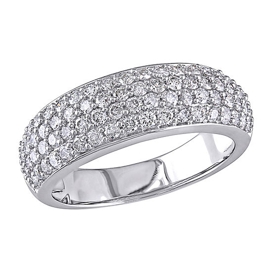 Womens 3.5MM 1 CT. T.W. Genuine White Diamond 10K White Gold Eternity Band