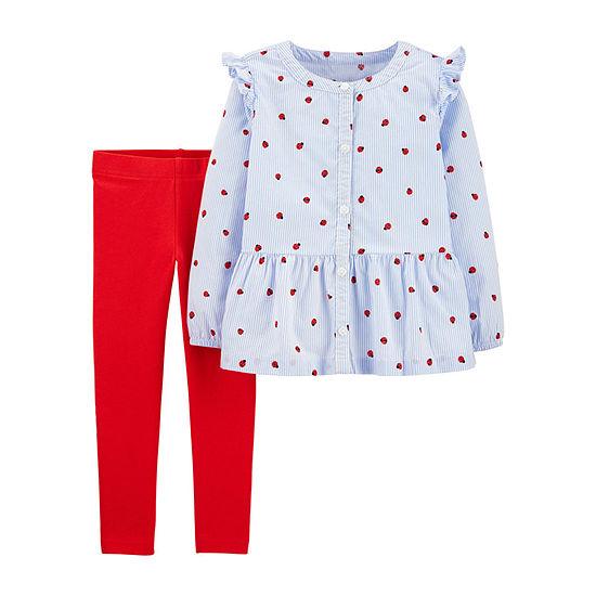 Carter's Girls 2-pc. Lady Bug Pant Set Toddler