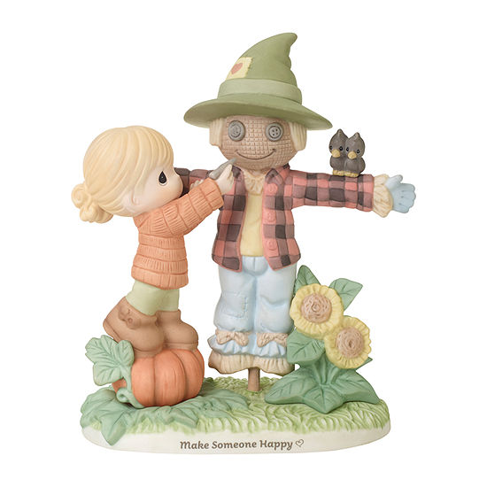 Precious Moments Girl With Scarecrow Figurine