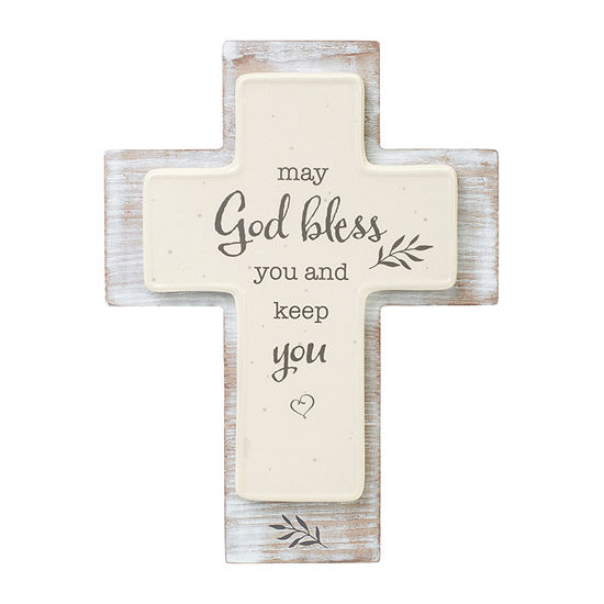 Precious Moments May God Bless You And Keep You Cross Tabletop Decor
