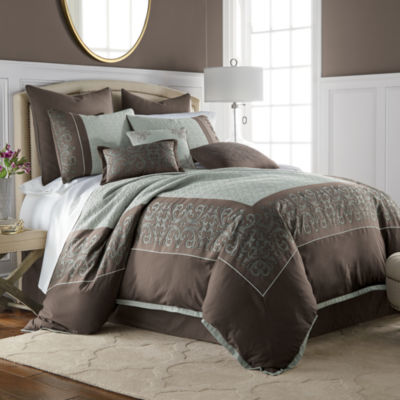 JCPenney Home Nicholai 7-pc. Jacquard Embellished Comforter Set