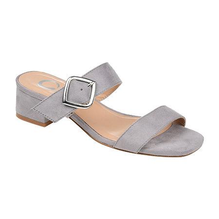Journee Collection Womens Santana Slip-On Shoe, 8 Medium, Gray