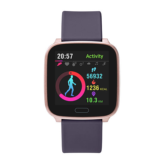 Iconnect By Timex Active Womens Purple Smart Watch-Tw5m34500so
