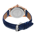 Akribos XXIV Mens Rose Goldtone Leather Strap Watch-A-539bu