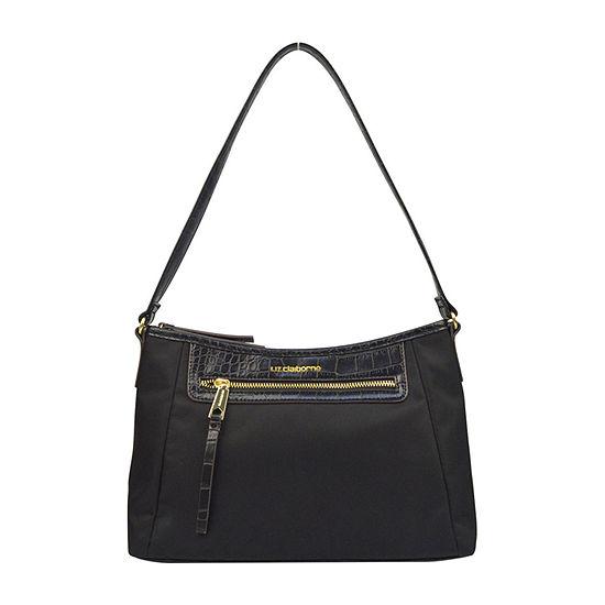 Liz Claiborne Crystal Top Zip Shoulder Bag