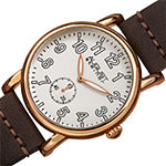 August Steiner Womens Brown Leather Strap Watch-As-8110rgbr