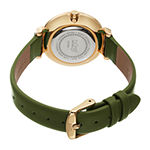 Burgi Womens Green Leather Strap Watch-B-254gn