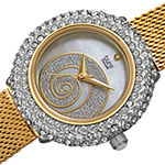 Burgi Womens Diamond Accent Crystal Accent Gold Tone Stainless Steel Bracelet Watch-B-259ygs