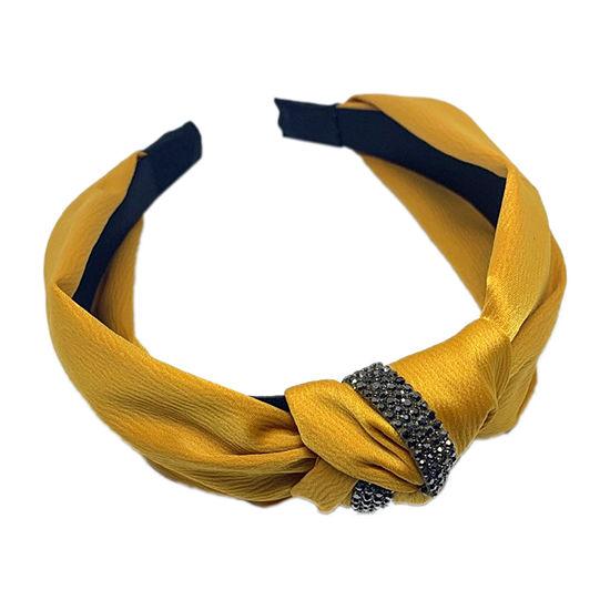 Mixit Yellow Knot Black Headband