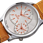 August Steiner Mens Brown Leather Strap Watch-As-8010sstn