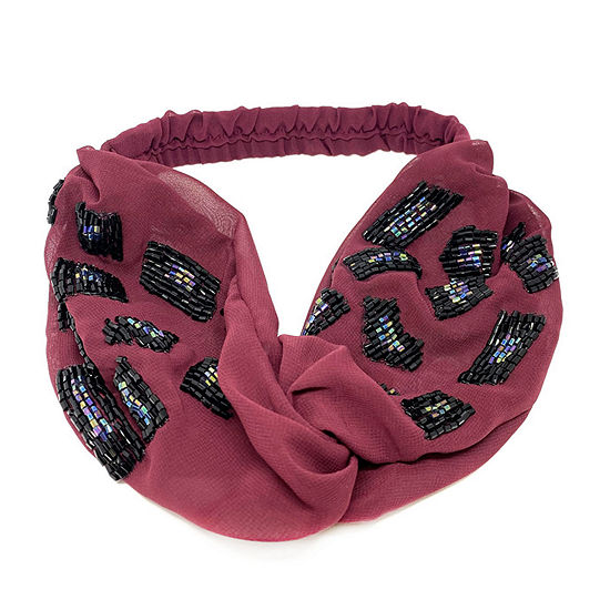 Mixit Red Beaded Hair Wrap