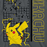 Little & Big Boys Crew Neck Pokemon Short Sleeve Graphic T-Shirt