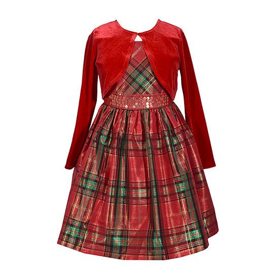 Bonnie Jean Big Girls Plus Sleeveless 2-pc. Dress Set
