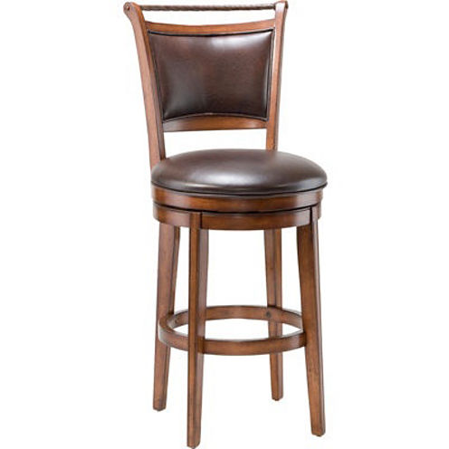 Calais Upholstered Swivel Barstool with Back