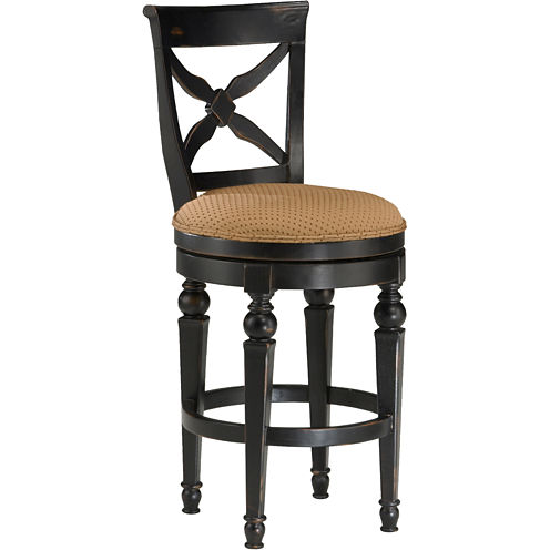 Northern Heights Swivel Barstool with Back