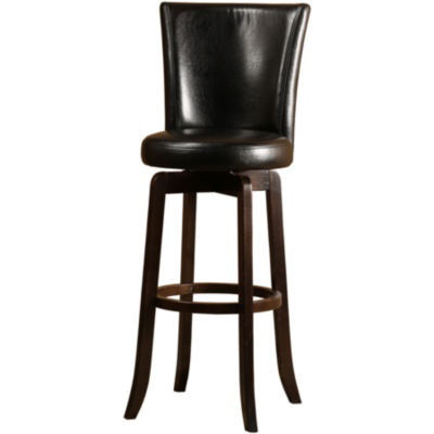 Copenhagen Upholstered Swivel Barstool with Back