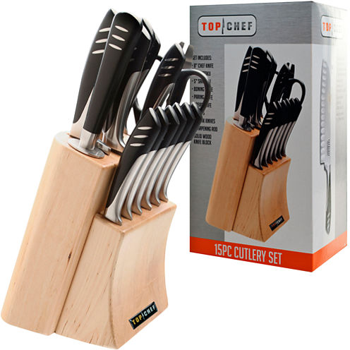 Top Chef® 15-pc. Stainless Steel Knife Set