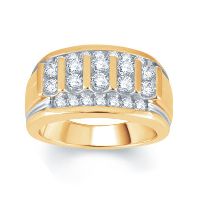 Mens 1½ CT. T.W. Genuine Diamond 10K Yellow Gold Ring