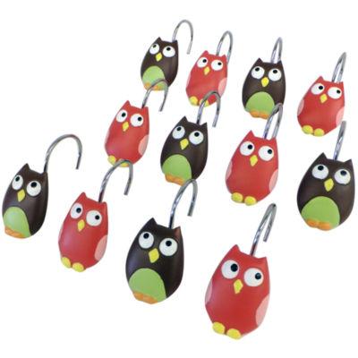 Owls Shower Curtain Hooks