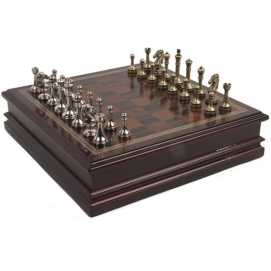 Deluxe Metal Chess Set