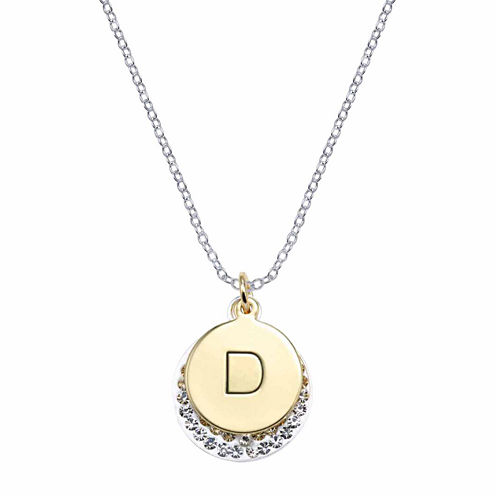 Sparkle Allure Silver Over Brass Pendant Necklace
