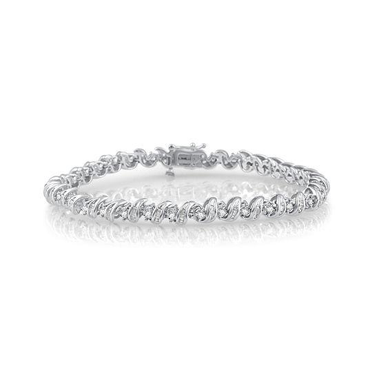 2 CT. T.W. Genuine White Diamond 10K Gold 7.5 Inch Tennis Bracelet
