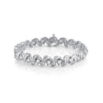 5 CT. T.W. Genuine White Diamond 10K Gold 7.5 Inch Tennis Bracelet