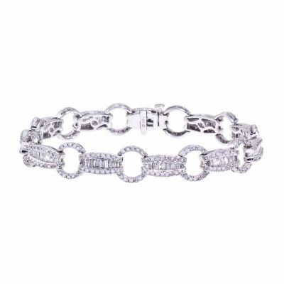 3 CT. T.W. Diamond 14K White Gold Link Bracelet
