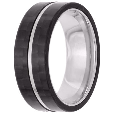Mens 8mm Stainless Steel Band