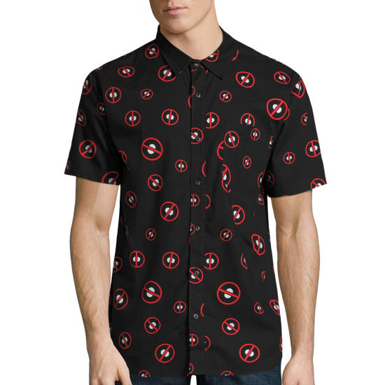 Deadpool Toss Woven Graphic Tee