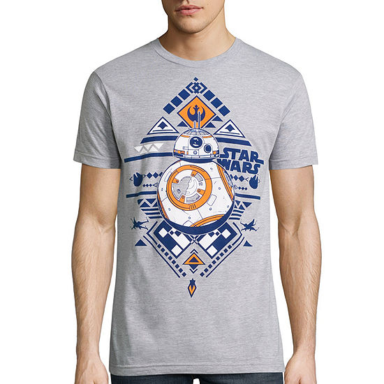 Short Sleeve Star Wars Tv + Movies BB8 Aztec  Graphic T-Shirt