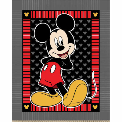 Disney Mickey Strip Dot Fleece Throw Kit