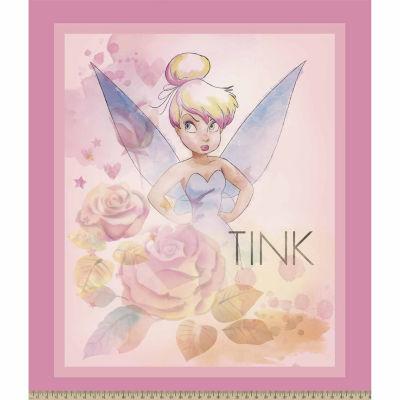 Disney Tink Stars Sky Panel Cotton Fabri