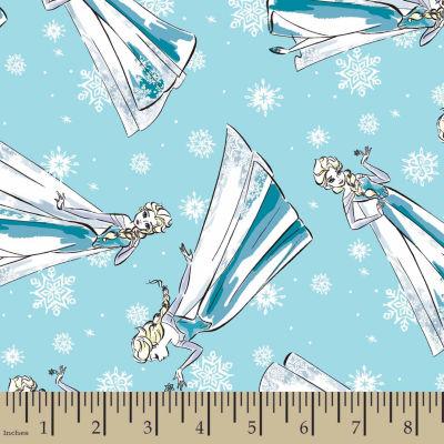 Disney Frozen Elsa Sketch Cotton Fabric