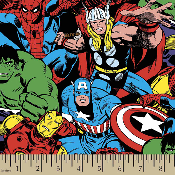 Marvel Comic Pack Cotton Fabric