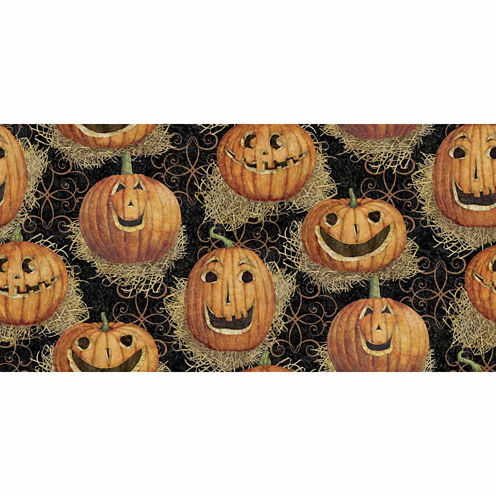 Halloween Pumpkin Cotton Fabric By The Yard