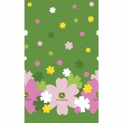 John Deere Flower Mock Smock Fabric